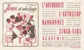 BU 874 /  BUVARD    CODE DE LA ROUTE   JEUX - Buvards, Protège-cahiers Illustrés