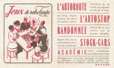 BU 874 /  BUVARD    CODE DE LA ROUTE   JEUX - Löschblätter, Heftumschläge