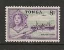 Tonga 1953 8d Emerald  & Deep Reddish Violet - Tonga (...-1970)