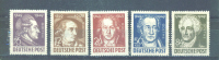 GERMANY (ALLIED OCCUPATION) - SOVIET ZONE  -  1949  Goethe MM (Top 2 Values Have Patchy Gum) - Zone Soviétique