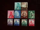 PALESTINE 1954-1958 OVERPRINTED EGYPTIAN STAMPS TEN DIFFERENT All MNH - Palestine