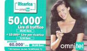 ITALY - Girl On Phone, OMNITEL Prepaid Card 60000 Lire/30.98 Euro, Exp.date 31/12/04, Used - Italie