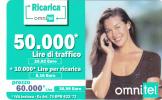 ITALY - Girl On Phone, OMNITEL Prepaid Card 60000 Lire/30.98 Euro, Exp.date 12/04, Used - Italië
