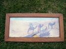 Cadre L´afrique Du Nord Dans Les Dunes---- - Art Populaire