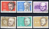 HUNGARY 1966 Anniversaries Of  Famous People Set Of 6 Used.  SG 2159-64 - Used Stamps