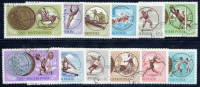 HUNGARY 1965 Olympic Medal Winners Set Of 12 Used.  Michel 2089-100 - Used Stamps