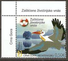 Montenegro 2007 Mi.No. 136 Birds Great White Pelican 1v MNH**   1,00 € - Pellicani