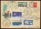 ANTARCTIC Station To Mirny Base Pole Mail Used Cover USSR RUSSIA North Arctic Polar  Map Plane Set Stamp Whaling Helicop - Unclassified