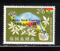 Ghana 1965 Surcharged 30pa On 2sh6p MNH - Ghana (1957-...)