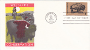 FDC Wildlife Conservation - Buffalo - Cover By Jackson - First Day Covers (FDCs)