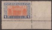 ES835-LA048TV.Spain.Espagne.AÑO JUBILAR COMPOSTELANO 1937.(Ed 835**)sin Charnela.MAGNIFICO ESQUINA DE PLIEGO - Variedades & Curiosidades