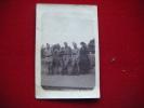 Photo De 4 Militaires Avec Dame-a Identifier-6x9cm- - Army & War