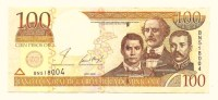 Dominican Republic 100 Pesos Oro 2001 Unc BanknoteP-167 - Dominikanische Rep.