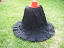 Jupe Noire -moire-hauteur 83cm--- - 1900-1940