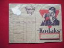 Pochette  -photos - Kodaks -publa Pellicule Kodak Verichrome 28-papier Velox............................-2- - Photography