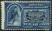 # United States  E   4, Mint, Og, Hr  SCV $ $900.00  (use004-1 - Special Delivery, Registration & Certified