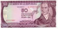 COLOMBIE   50 Pesos Oro  Daté Du 12-10-1984   Pick 425a     ***** BILLET  NEUF ***** - Colombie