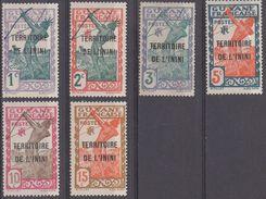TERRITOIRE  DE  L'ININI  N°1/2/4/5/6/36  NEUF Sans Gomme__ VOIR SCAN - Inini (1932-1947)