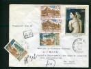 =*= 1501x2+1530+1561x2 Sur Lettre Rec. Provisoire AR Tarif 3ème échelon Sierck Les Bains>>>>Nancy 24 6 68 =*= - France