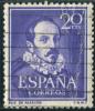 1950 - Europe - Espagne - Juan Ruiz De Alarcon Y Mendoza - 20 Cts Violet - - Scrittori