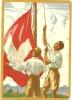 Suisse Illustrated Postal Stationary 1929 Bundesfeier Flag (E1555) - Postwaardestukken