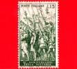 ITALIA - 1958 - USATO - 40º Anniversario Della Vittoria Nella Prima Guerra Mondiale - 15 L. • I Trionfi Di Cesare - 6. 1946-.. Republic