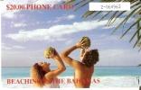 TARJETA DE BAHAMAS DE $20 DE UNOS TURISTAS CON COCOS - Bahamas