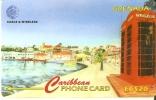 TARJETA DE GRENADA DE PAISAJE COSTERO Y CABINA 287CGRB - Grenada