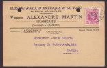 Belgium Bois Du Nord, D'Amerique & Du Pays Scieries Mécaniques Veuve LEXANDRE MARTIN Frameries 1927 Card HAREN (2 Scans) - Belgien