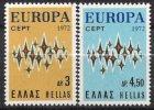 1972 - GRECIA / GREECE - EUROPA CEPT - LE STELLE / STARS - 2 FRANCOBOLLI. MNH - Europa-CEPT