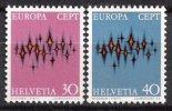 1972 - SVIZZERA / SWITZERLAND - EUROPA CEPT - LE STELLE / STARS - 2 FRANCOBOLLI. MNH - Europa-CEPT