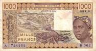 TOGO  1 000 Francs  Non Daté (1981)   Pick 807 Tb  Signature 15     ***** QUALITE  VF ++ ***** - Togo