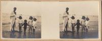 Berk Sur Mer Plage Bain De Mer  Enfant Guerre WWI Pas De Calais Tirage Bien Net - Photos Stéréoscopiques