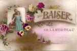 LAMORTEAU ..-- ROUVROY ..-- Un Baiser De ...1923 Vers LAECKEN ( Mr Mme Bertémes ) . Voir Verso . - Rouvroy