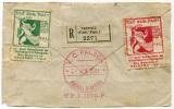 2 ERINNOFILI PUBBLICITA RIVISTA TOUT POUR TOUS RIVISTA INTERNAZIONALE COLLEZIONISTI PALERMO ANNO 1921 - Cinderellas