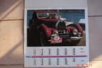 Calendrier Autos De Collection Offert Par Fina ,format 43,5X 48,5 - Big : 1971-80