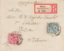 Germany; Registered Cover To Austria 1891 - Deutschland