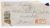 Einschreiben Brief Bad Harzburg->Nijmegen Niederlande, Auf Grund Der Verordnung? Misch Frankatur - Briefe U. Dokumente