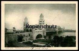 ALTE POSTKARTE KÖLN HOHENZOLLERNBRÜCKE Rheinuferbahn Brücke Bridge Pont Cpa Postcard Ansichtskarte - Koeln