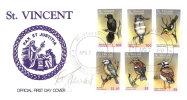 1997 ST VINCENT BIRDS OF THE WORLD COMPLETE FDC FIRST DAY COVERs - PRISTINE AND SEVERAL SIGNED - Oiseaux