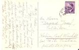 1944 Name Day Card 60c Bohemia & Moravia/Czech Hitler Head Stamp - Occupation 1938-45