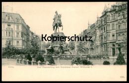 ALTE POSTKARTE KÖLN HANSARING 1904 MIT DENKMAL KAISER WILHELM I. Monument Cöln Cpa Postcard AK Ansichtskarte - Koeln