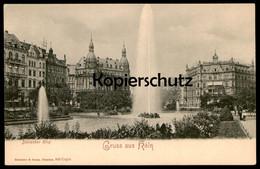ALTE POSTKARTE GRUSS AUS KÖLN DEUTSCHER RING Cöln Fontaine Fountain Cpa Postcard AK Ansichtskarte - Koeln