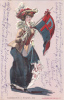 Woman Holding University Of Pennsylvania Flag, PU-1906 #1 - Scuole