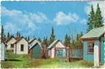 Champagne Yukon, Canada, Indian Graveyard, Native Graveyard, Architecture, C1960s Vintage Postcard - Yukon