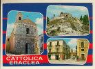 CATTOLICA ERACLEA (AG) VEDUTE - IL COLLE S. CALOGERO CON LA CHIESETTA. - Agrigento