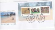 Norfolk Island-2004 Quota International  Souvenir Sheet FDC - Norfolk Island