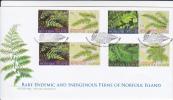 Norfolk Island-2008 Endemic Ferns FDC - Norfolk Island