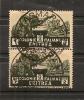 ERYTHREE, Colonie Italienne,Y-T 202 En Paire ,superbe Oblitération - Eléphants