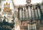 C.O.B. 2926/29 : Tourisme. Orgues Des églises De Grimbergen, Mons, Ninove Et Bastogne. - Maximumkaarten